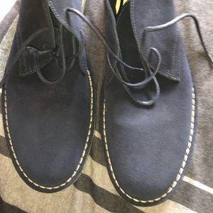 Barneys New York Suede Blue Chukka Boots